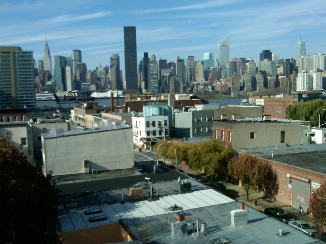 View of Manhattan from LHaus in Long Island City