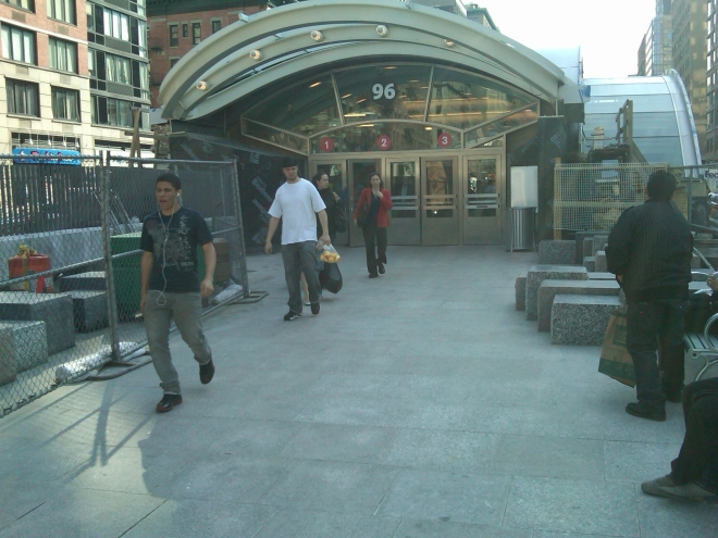 96th St. subway entrance on Manhattan's Upper West Side