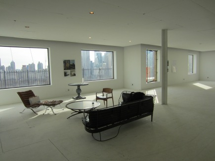 Great space, exhilerating skyline, lots of terrace, but ;there is much unrealized potential.