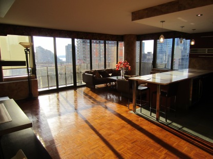 Views through floor-to-ceiling windows are winning, but a vacant apartment like this one near Lincoln Center can have a chilling effect on buyers.