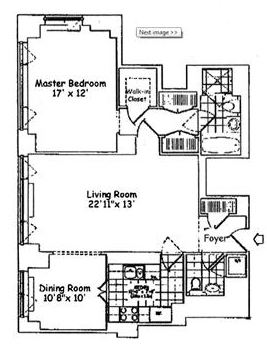 This condo at 401 E. 60th St. is one floor below unit to be auctioned and may be slightly smaller.