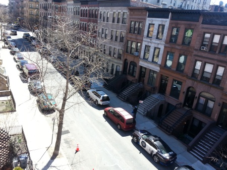 View of a Hamilton Heights from top floor of nicely renovated townhouse offered for $2.695 million.
