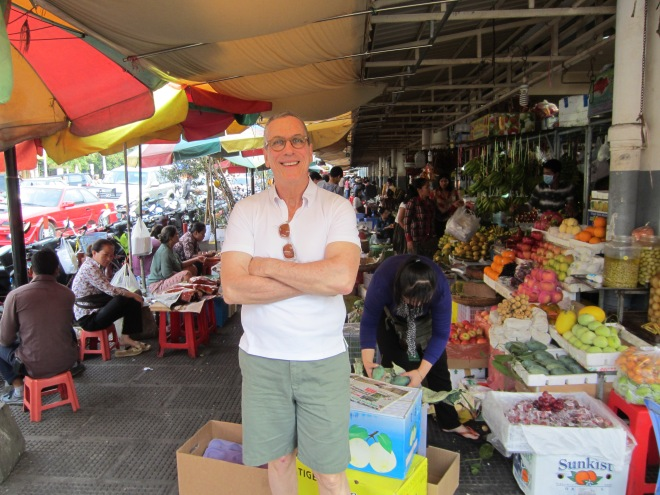 Markets like this one near our hotel please me immensely.