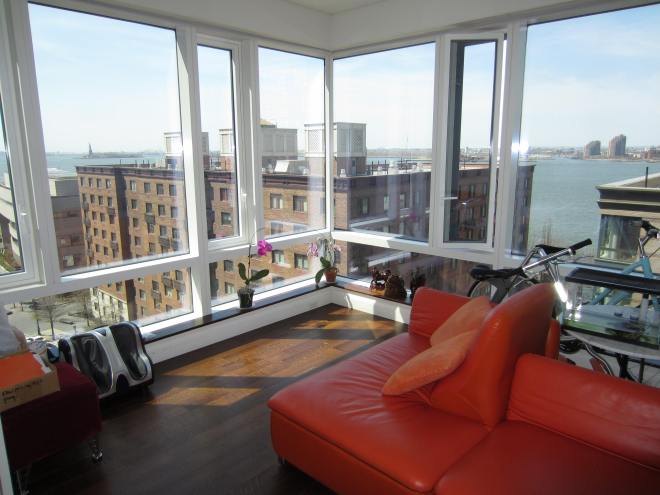 Perhaps you can make out the Statue of Liberty from this $2.4 million condo.