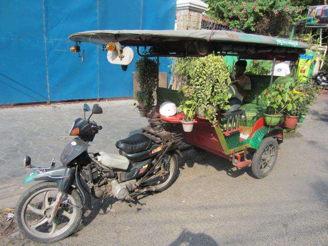 Few are such elaborately tricked out tuk-tuks.