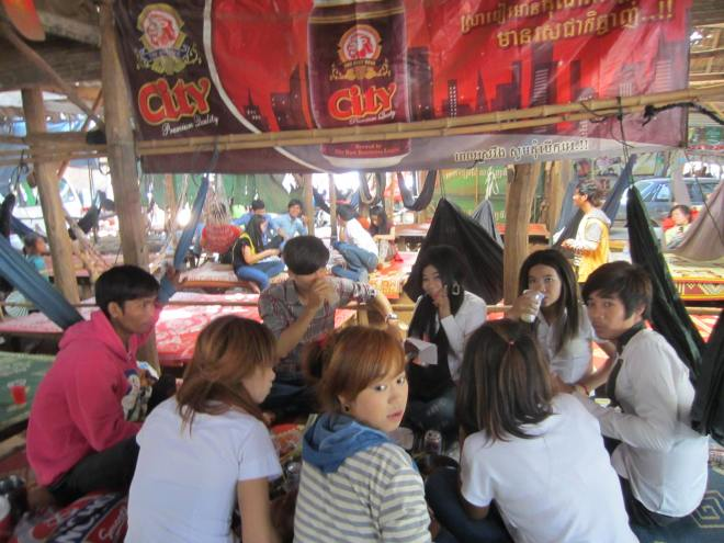 Most parents forbid most teen-age boys and girls to socialize in couples, so they seize opportunities for group activities, of which a trip to Oudong is a good option.