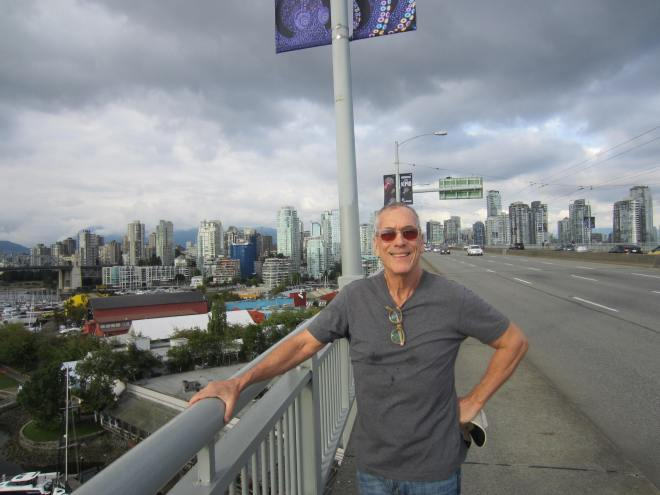 We walked from downtown Vancouver across the long bridge to Granville Island
