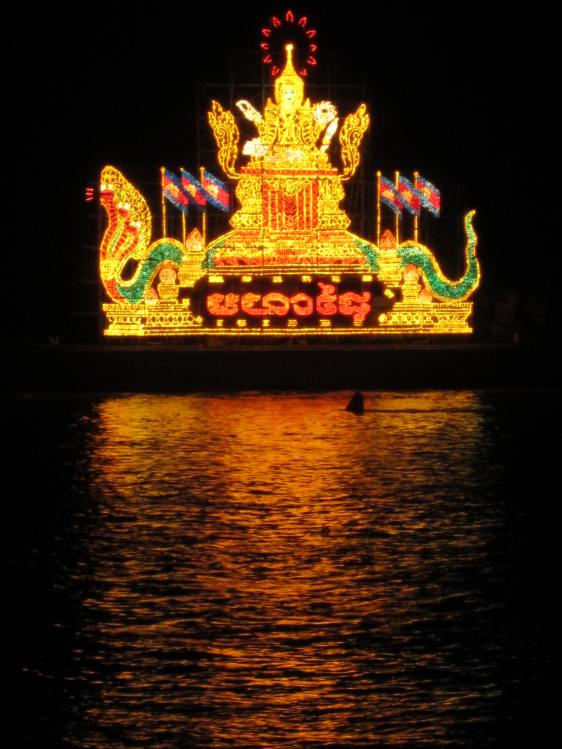 This is one boat in a parade of boats with impressively constructed displays.
