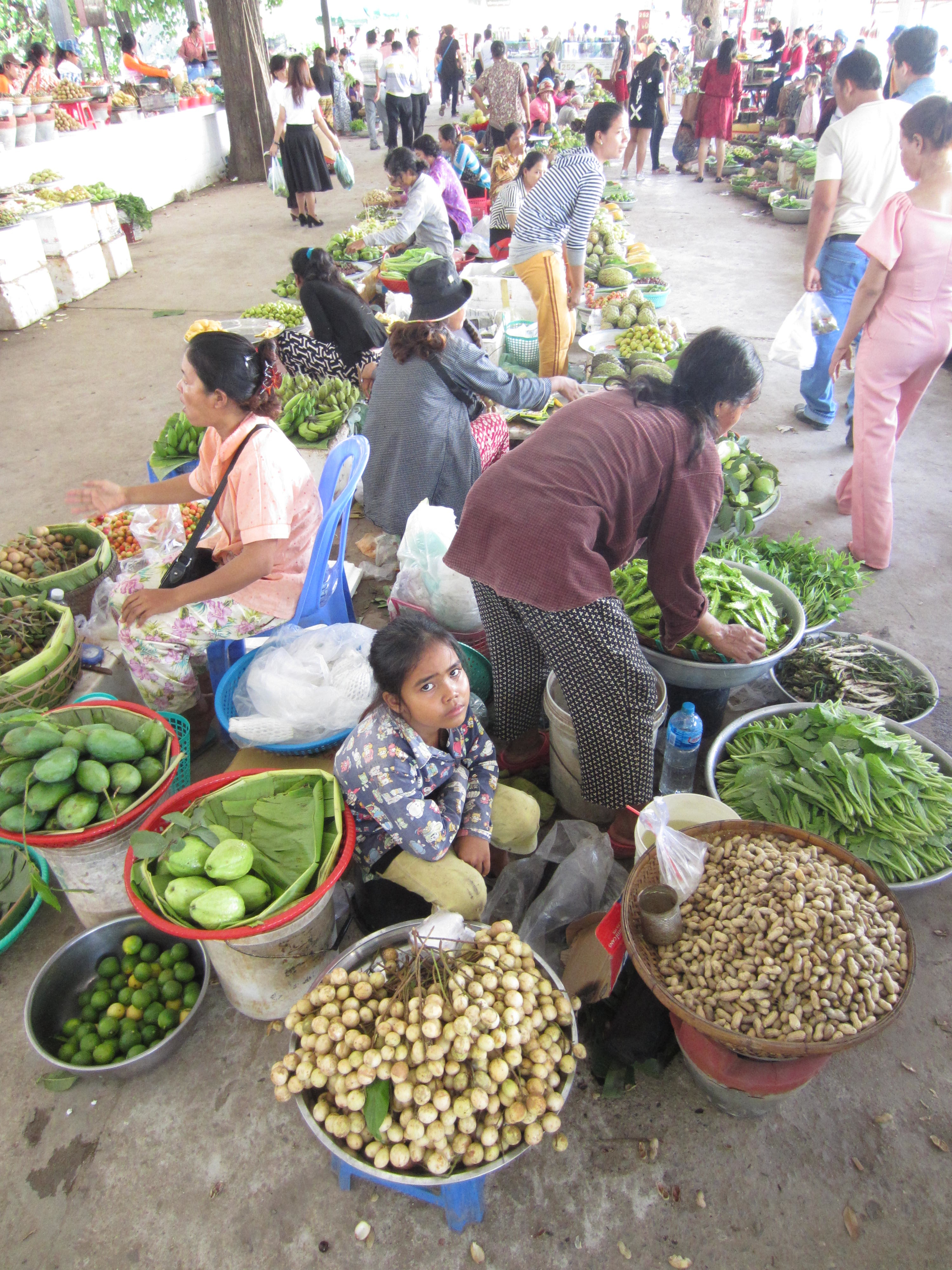 This is not my local market, but it is typical of markets found everywhere in Cambodia.