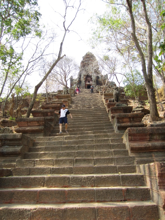 Stairs leading to Wat Banan