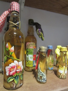 All of Sombai's bottles are hand-painted, providing work for locals, including one accountant who enjoys the effort, says Maitrepierre.