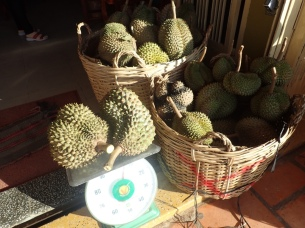 Reviled and savored, these durian were expensive. . . and delicious.