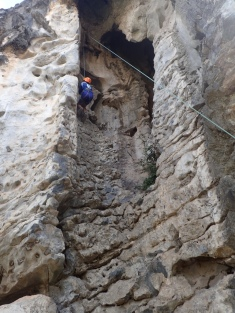 Rock climbing and photography are favorite activities on Chngouk Mountain.