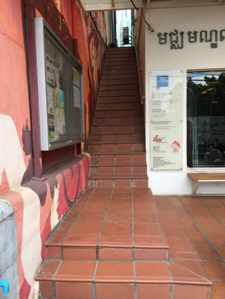 Up this forbidding staircase, Meta House, the German Cambodian Culture Center, offers a rich variety of discussions, films, entertainment and bar food daily.