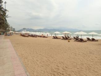 The beach at Nha Trang on the cusp of the high season.