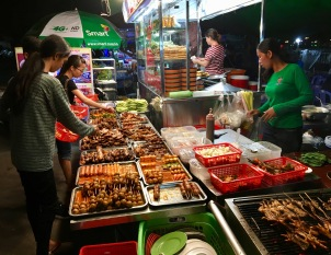 Gone are numerous street food sellers around the park.