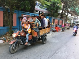 Construction workers often get to and from work in vehicles like this one.